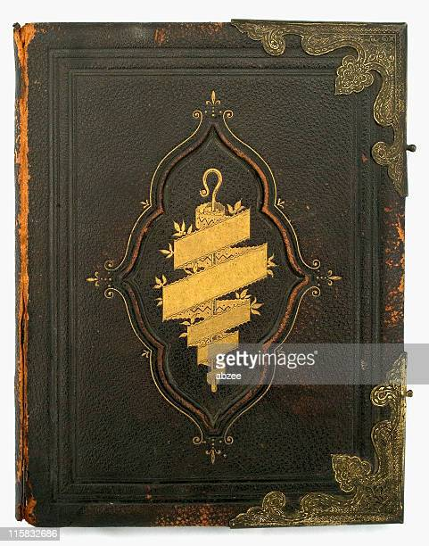 Antique Bible front cover with title removed