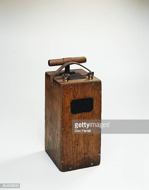 antique blasting switch - detonator stock photos and pictures