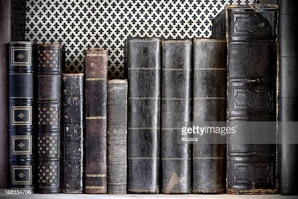 Antique book on a shelf