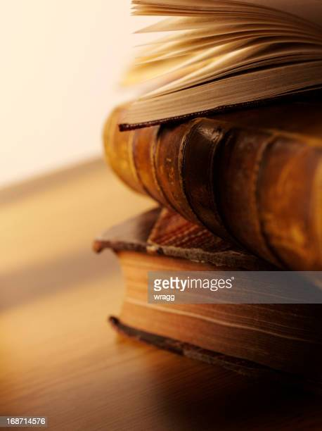 antique books for education - old book stock photos and pictures