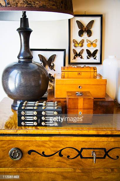 antique box - art deco furniture stock pictures, royalty-free photos & images