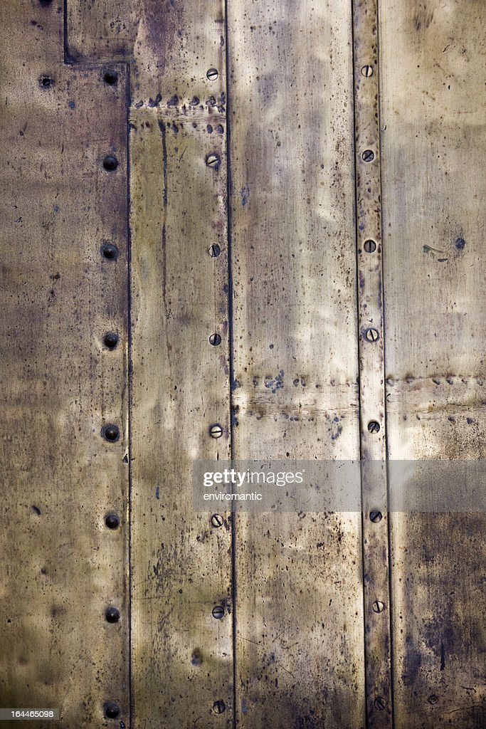 Antique brass plate background. : Stock Photo