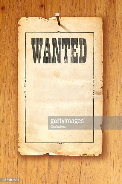 Brun Antique voulait poster fixes avec manucure sur fond en bois