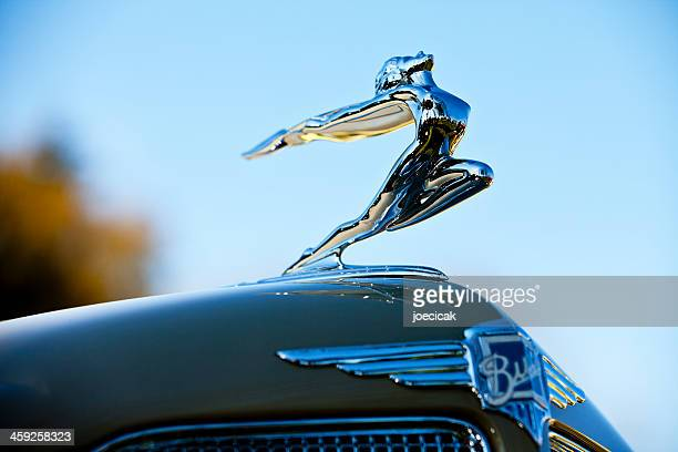 antique buick hood ornament - hood ornament stock pictures, royalty-free photos & images
