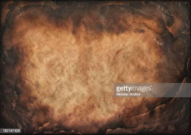 Antique Burnt Paper Sheets High Resolution Vignette Grunge Texture