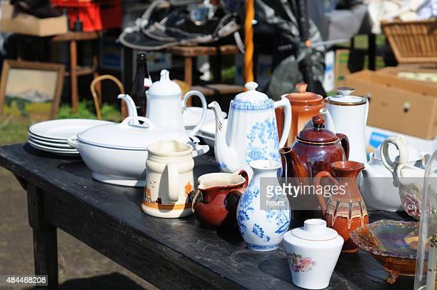 antique cafe pott China Blue of Tiefenfurt on flea marke