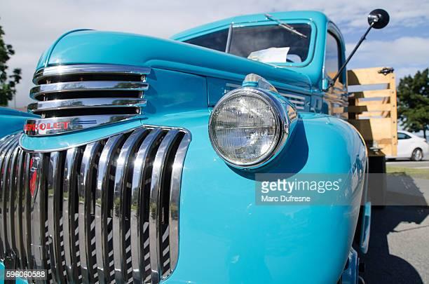 Antique Car: Chevrolet Truck Blue 1942