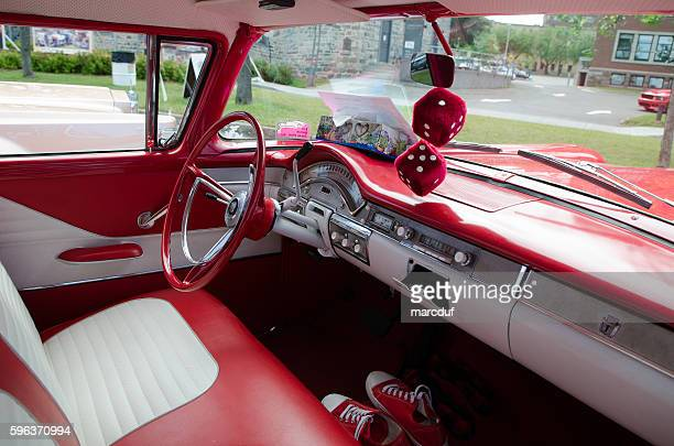 Antique Car: Ford Custom 300, 1958, white and red