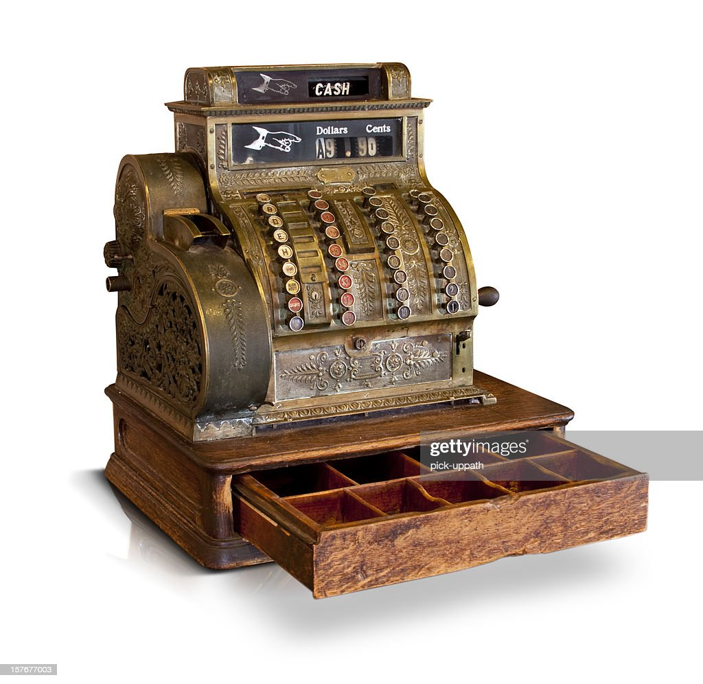 Antique Cash Register : Stock Photo
