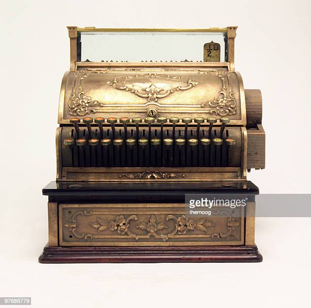 antique cash register - cash register stock pictures, royalty-free photos & images
