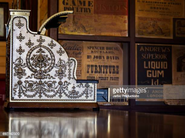 antique cash regsiter - embellishment stock pictures, royalty-free photos & images