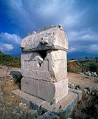 view an ancient pillar tomb lycian