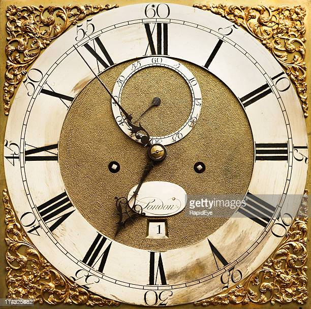 Antique clock face in close up