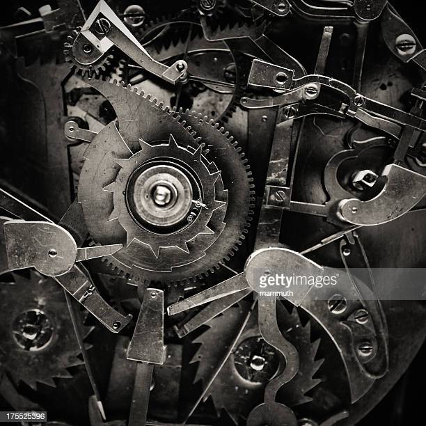 antique clock mechanism - help:contents stock pictures, royalty-free photos & images
