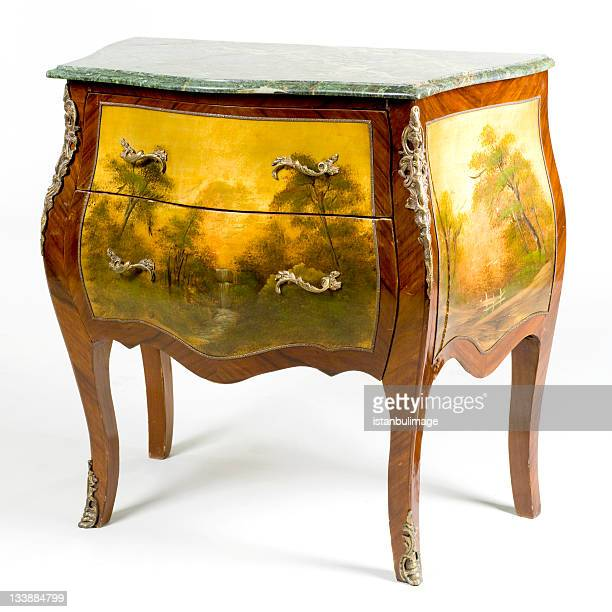 antique cupboard - art deco furniture stock pictures, royalty-free photos & images