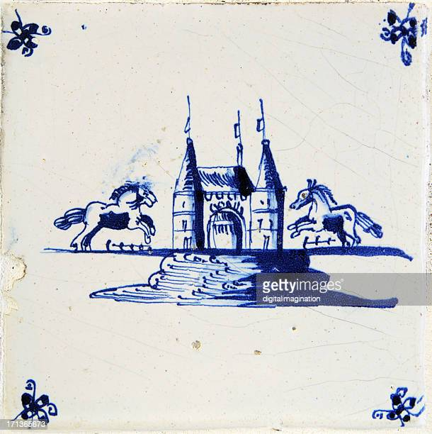 Antique Delft Bleu Tile