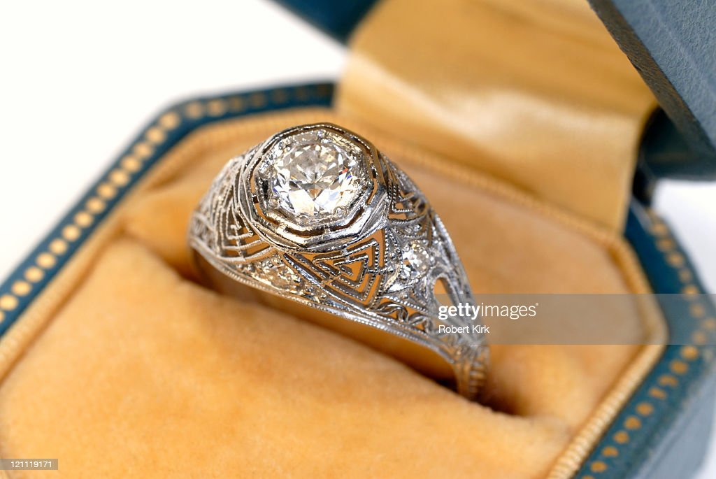 Antique Diamond Ring : Stock Photo