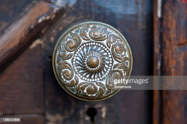 antique door knob - victorian style stock pictures, royalty-free photos & images