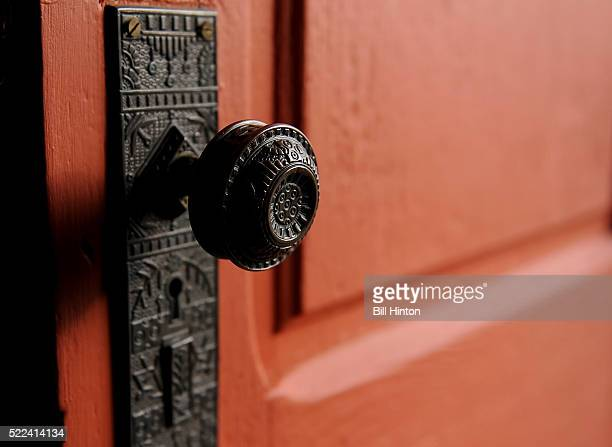 antique door knob - bill hinton stock pictures, royalty-free photos & images