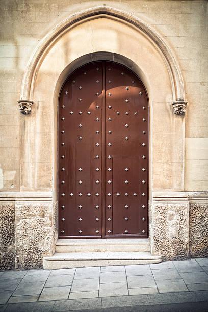 Antique door with arch