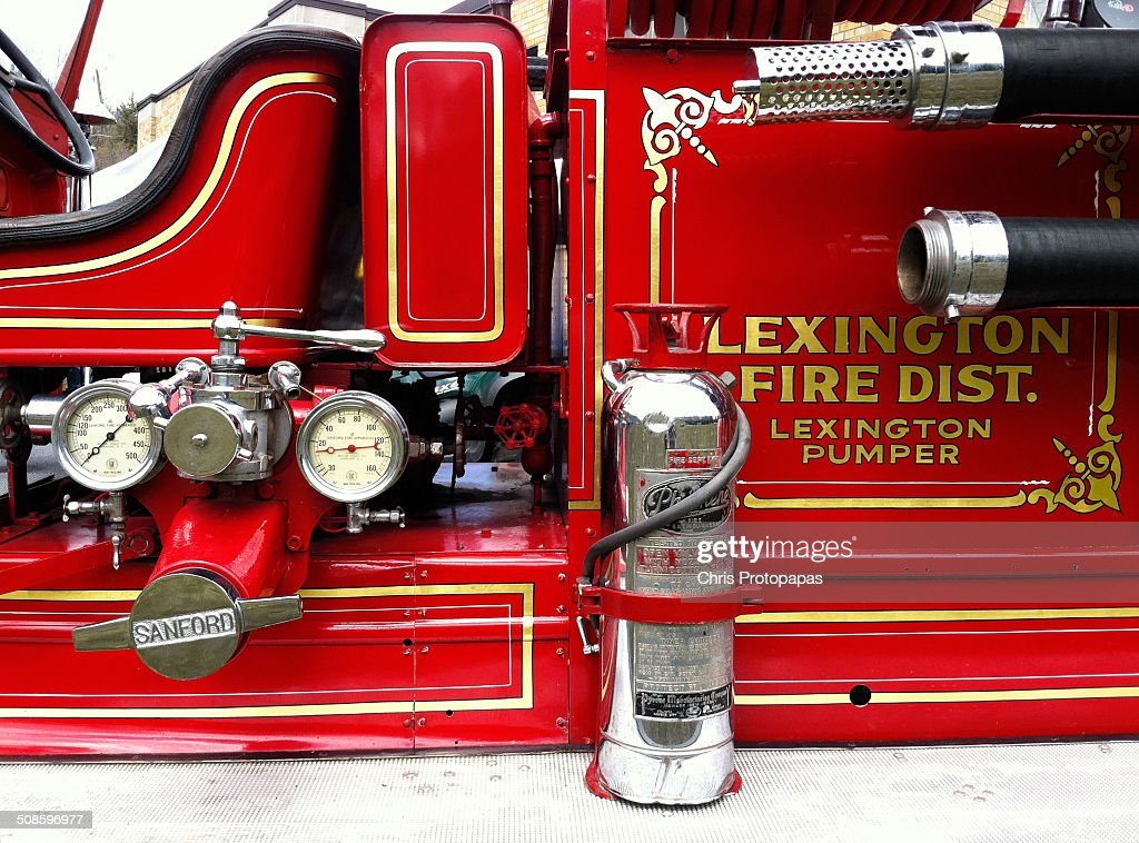 Antique Fire Engine : Stock Photo