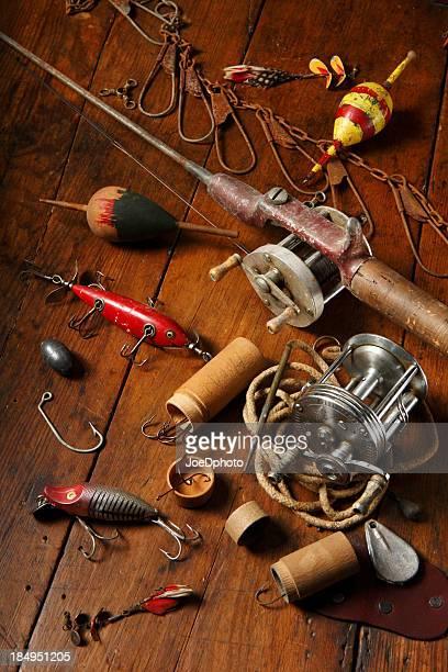 Antique fishing gear.
