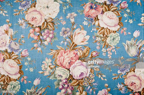 antique floral fabric 88552135 - flower wallpaper stock pictures, royalty-free photos & images