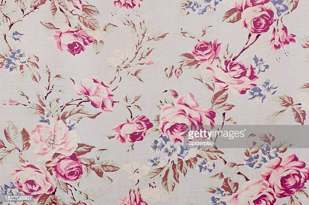 Antique floral fabric SB37 close up