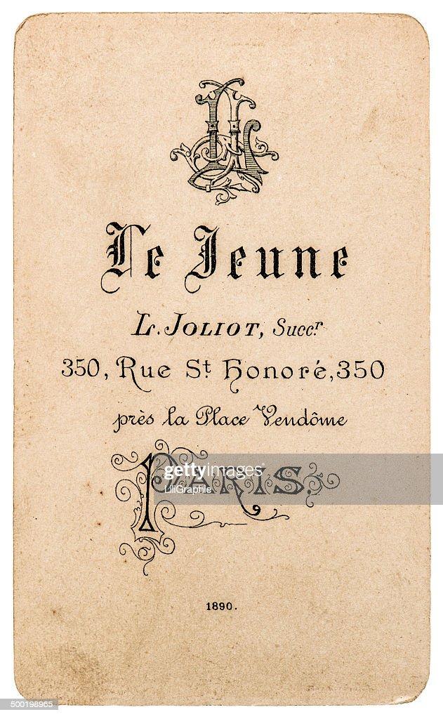 Antique french carte de visite vintage business card stock photo antique french carte de visite vintage business card stock photo colourmoves