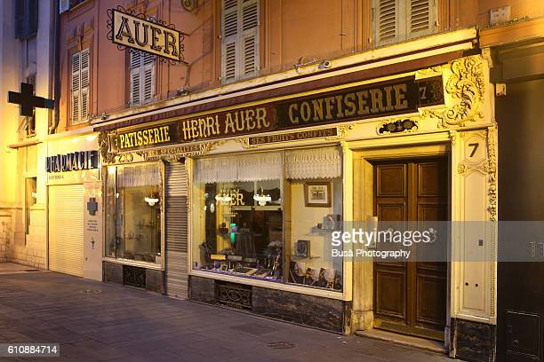 Antique French pastry shop in Rue Saint Francois de Paule, Nice, French Riviera, France