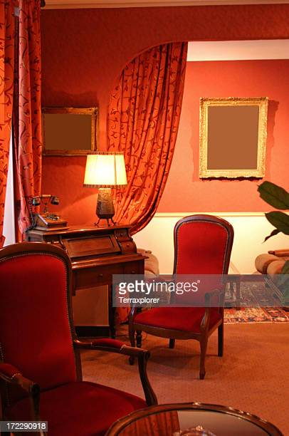 アンティーク家具、ホテルの内装