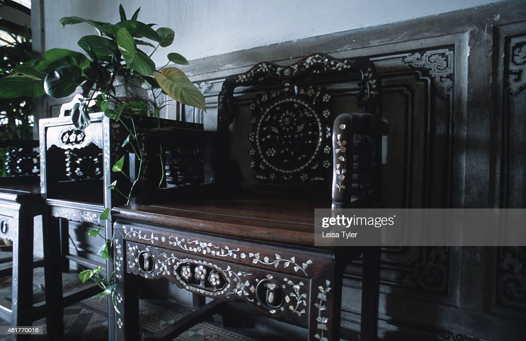 Antique Furniture At Cheong Fatt Tze Mansion, An Old Chinese House In The  Heart Of