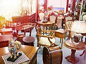 Antique furniture store