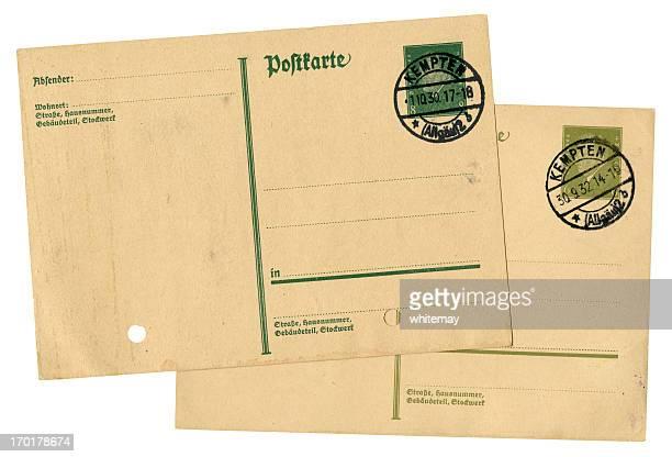 Antigo postal alemão de 1930 s