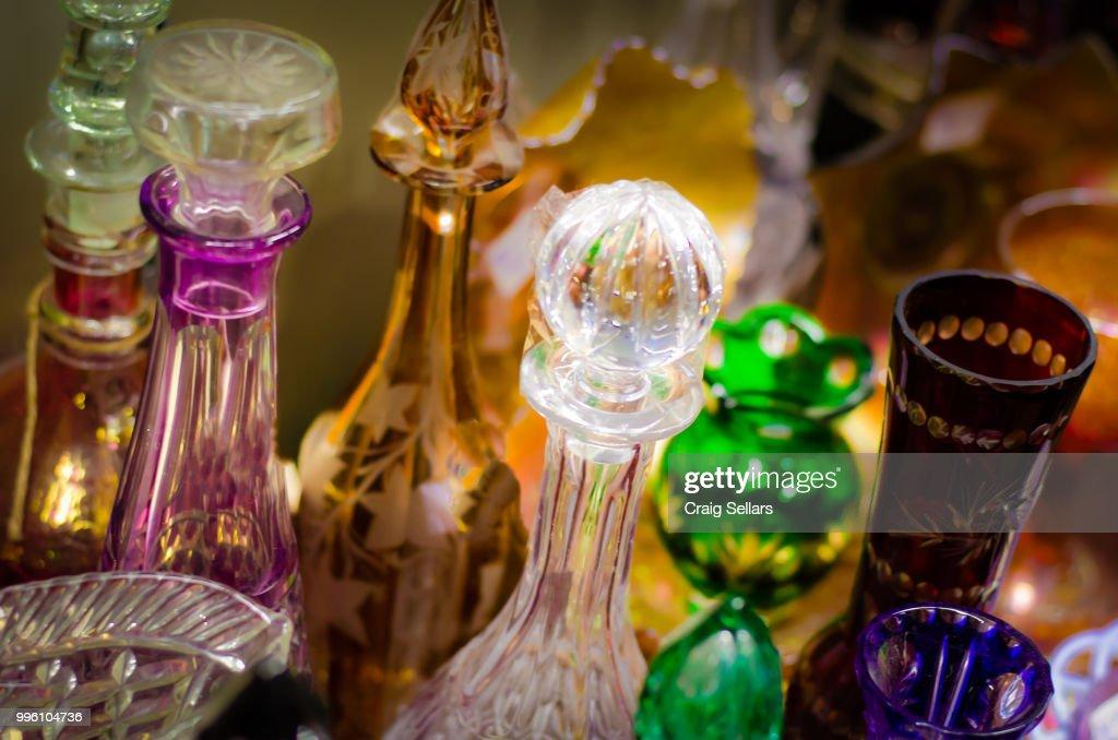 Antique glass : Stock Photo