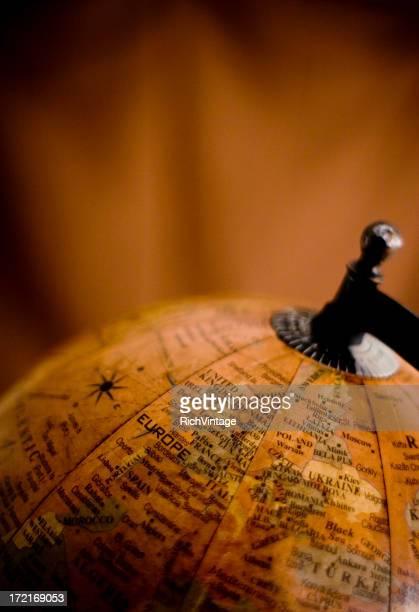 Antique Globe de l'Europe
