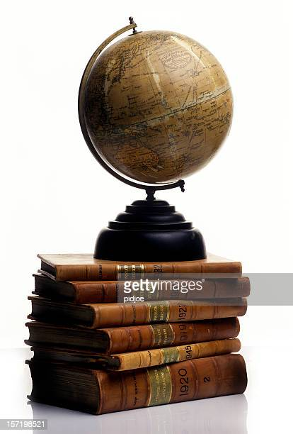 Antique Globe on a pile of old Books