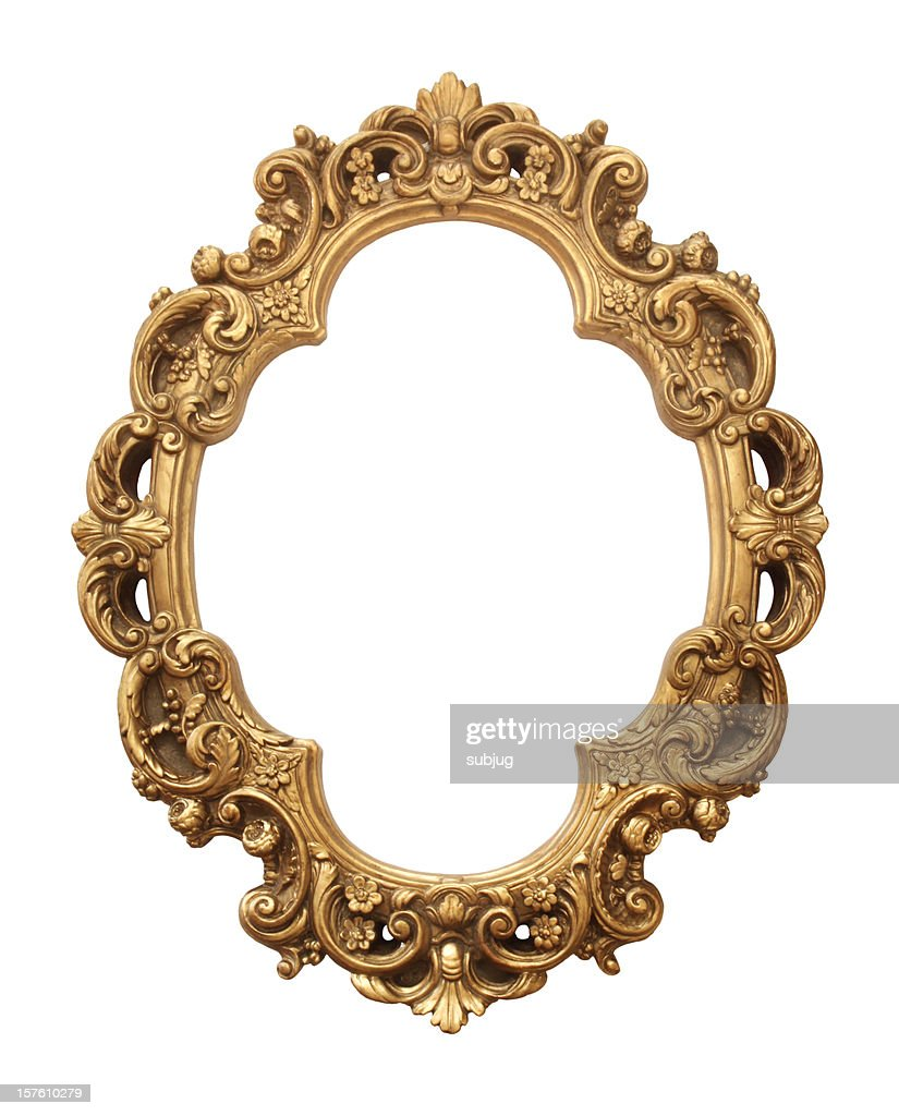 Antique gold frame : Stock Photo