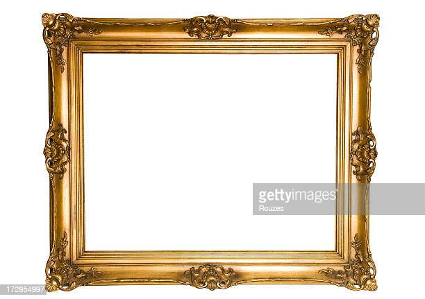 antique gold frame - gilded stock pictures, royalty-free photos & images