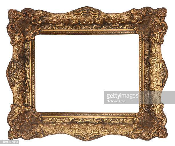 antique gold frame - intricacy stock pictures, royalty-free photos & images