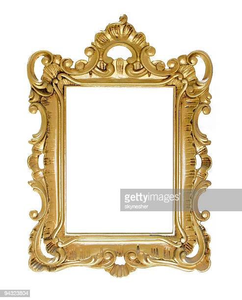 antique golden frame - ornate stock pictures, royalty-free photos & images