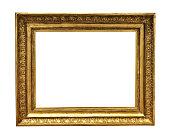 antique golden textured masterpiece frame