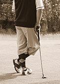 Antique golfer