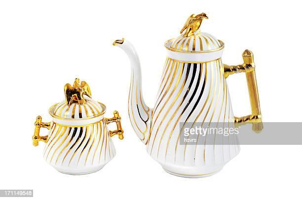 Anticuario gründerzeit (itme 1840-1871) cafetera y sugar bowl