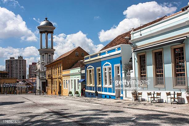 antique houses at garibaldi square, brazil - curitiba stock pictures, royalty-free photos & images