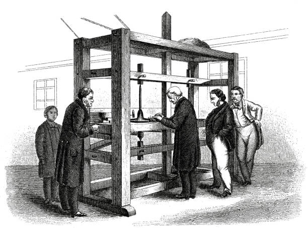 Antique Illustration of Re-cutting the Koh-i-Noor Diamond in 1852