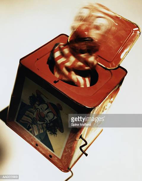 antique jack-in-the-box - jack in the box stock photos and pictures