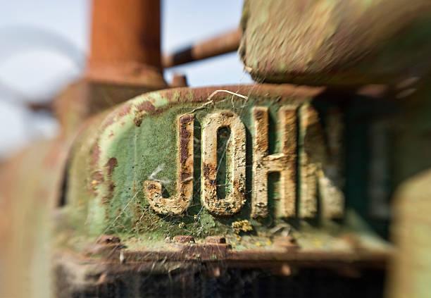 Antique John Deere Tractor detail, Adobe Farms, Petaluma, California