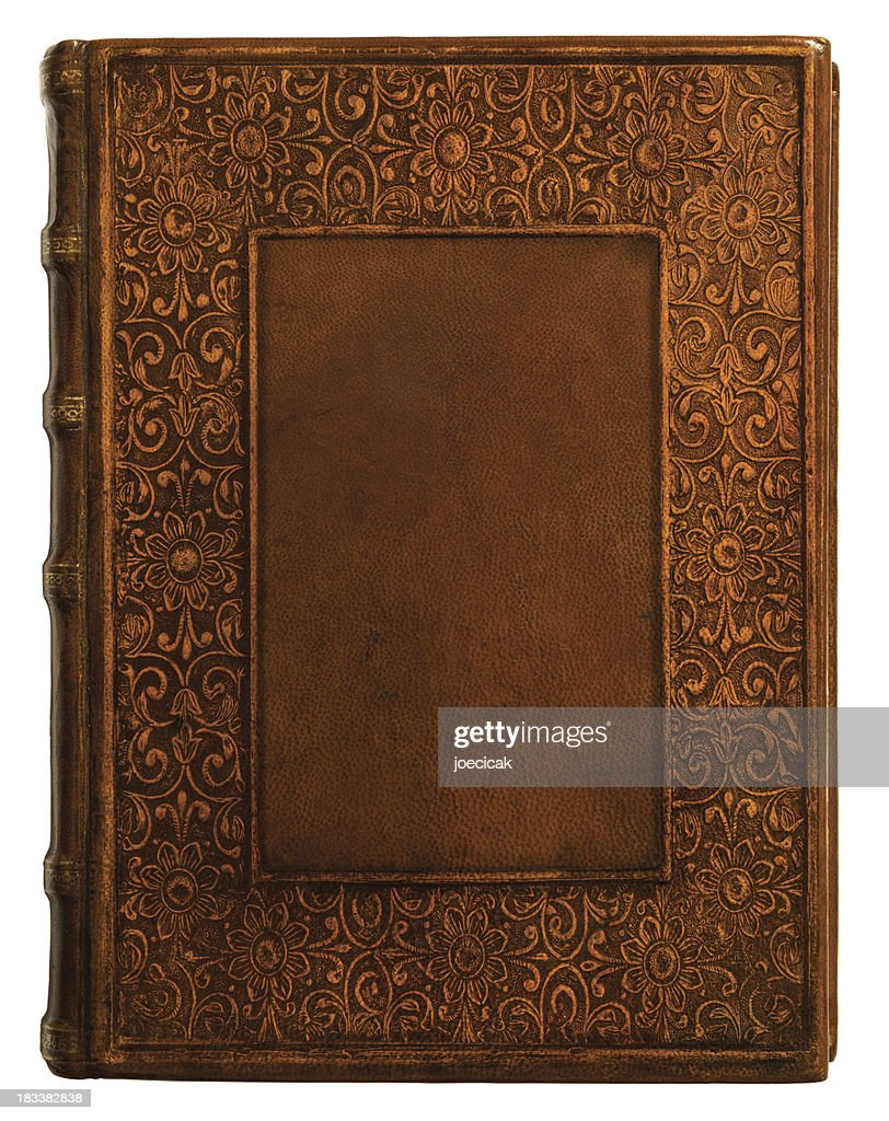 Antique Leather Book Cover : Stock Photo