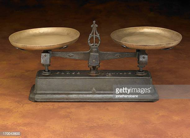 Antique Leveling Scale on warm background